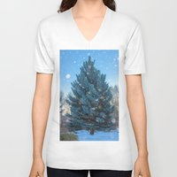 christmas tree V-neck T-shirts featuring Christmas tree  by Svetlana Korneliuk