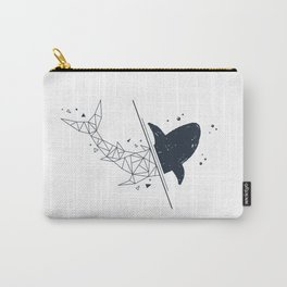 Shark. Geometric style Carry-All Pouch