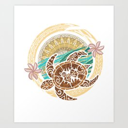 If We Tollerate This Eco Turtle Art Print