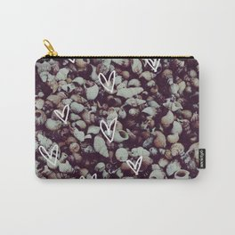 charcoal seashell pattern Carry-All Pouch