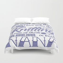 Knitting Nana Duvet Cover