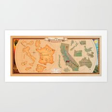 World of Wine Map Art Print