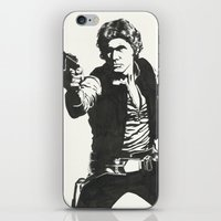 han solo iPhone & iPod Skins featuring Han Solo by Johannes Vick