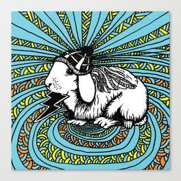 Patrick Swayze the rabbit Canvas Print