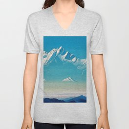 Nicholas Roerich - Mount Of Five Treasures - Digital Remastered Edition Unisex V-Neck