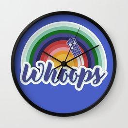 Retro Whoops Wall Clock