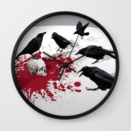 Murder Detail Wall Clock