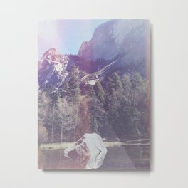 Faded Mountainside Metal Print