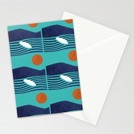 Surfing board Stationery Cards
