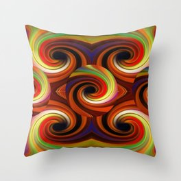 Spicy Colors Throw Pillow