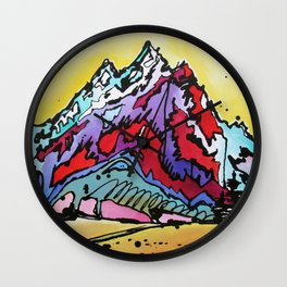 Waning Seasons in the Tetons Wall Clock
