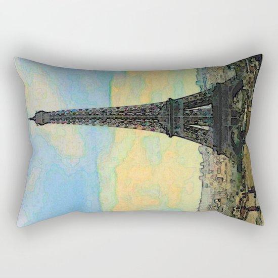 Watercolor Dream of Paris Rectangular Pillow