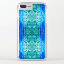 210 - abstract pattern Clear iPhone Case