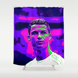 Ronaldo - Neon Shower Curtain