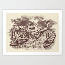Battle of the Ironclads II Art Print