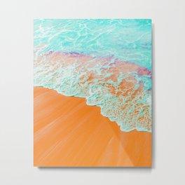 Coral Shore #photography #digitalart Metal Print