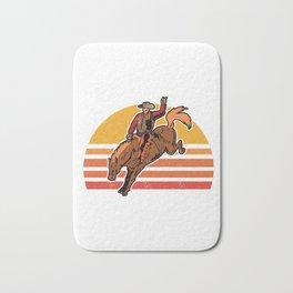 Vintage Cowboy Bucking Horse Rodeo Gift Bath Mat