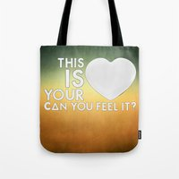laura palmer Tote Bags featuring Bastille - Laura Palmer #4 (This Is Your Heart, Can You Feel It?) by Thafrayer