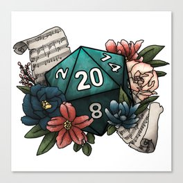 Bard Class D20 - Tabletop Gaming Dice Canvas Print