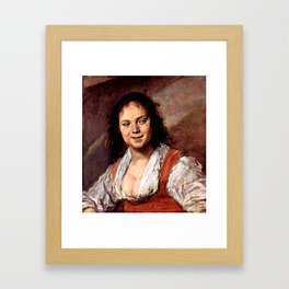 "Frans Hals ""Young woman (The Gypsy Girl)"" Framed Art Print"