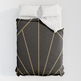 Diamond Series Sun Burst Gold on Charcoal Comforters