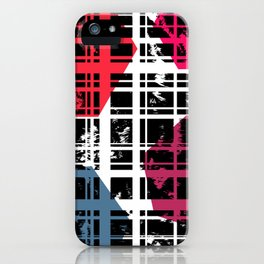 Brushstrokes | Lines & Hexagons iPhone Case