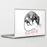 rat Laptop & iPad Skins featuring love rat by Jess John