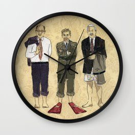 Golden boys Wall Clock