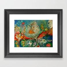 WATER FLOWER Framed Art Print