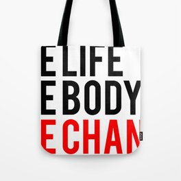 One Body One Life One Chance Fitness & Bodybuilding Motivation Quote Tote Bag