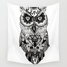 gangsta owl Wall Tapestry