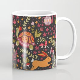 Tortoise and the Hare in Red Coffee Mug