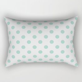 Mint and gray polka dots Rectangular Pillow