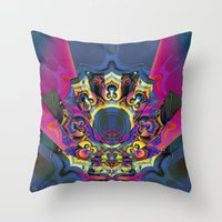 booty Throw Pillows featuring Draggin Booty by Jim Pavelle