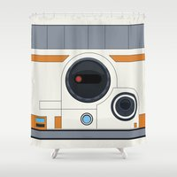 boob Shower Curtains featuring BB-8 by dudsbessa