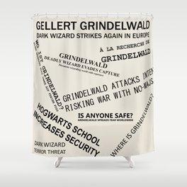 1926 Wizard Newspaper Headlines - Grindelwald Shower Curtain