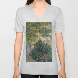 "Claude Monet ""Camille Monet in the garden at Argenteuil"" Unisex V-Neck"