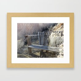 Silver Bench Framed Art Print