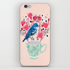 Bird on a Teacup by Andrea Lauren  iPhone & iPod Skin
