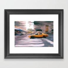 Taxi Cab. Framed Art Print