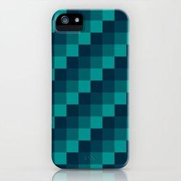 Ocean Waves - Pixel patten in dark blue iPhone Case
