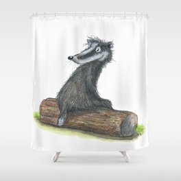 Badgers Date Shower Curtain
