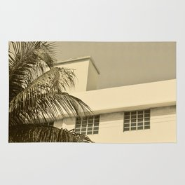 A building and a palm tree in Miami Beach Rug