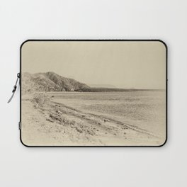 Tranquil bay view in sepia Laptop Sleeve