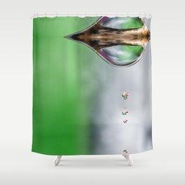 macro water drops Shower Curtain