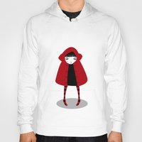 red hood Hoodies featuring Little Red Riding Hood by Volkan Dalyan