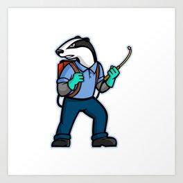 Badger Pest Control Mascot Art Print
