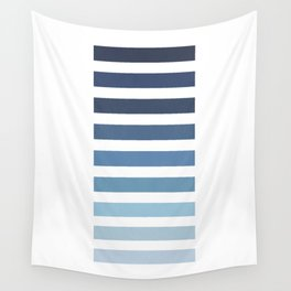 Sky and Water Blue Palette Wall Tapestry
