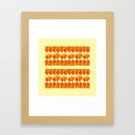 SPRING GOLDEN DAFFODILS MODERN ART DESIGN Framed Art Print