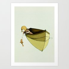 Sofi and the Fish Art Print